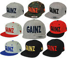 Gains GAINZ life Snapback Bodybuilding Gym WorkOut Hat Cap Flat bill Adjustable