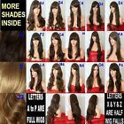 Brown Wig Natural Long Curly Straight Wavy Synthetic Wig Women Party UK