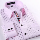 New Men's Formal Stylish Luxury Casual Long Sleeve Business Dress Shirts T6280