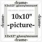 Calico-White Wooden Photo Picture Frame with Ivory Mount - Choose size