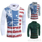 Men's Slim Fit Stylish Casual Long Sleeve T-shirt Tops Autumn Basic Tee New
