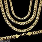 Miami Cuban Link Chain Yellow Gold Plated 5-12 mm Wide 20\