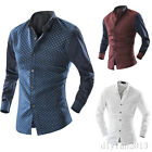 New Mens Business Wedding Dress Shirt Long Sleeve Casual Stylish Shirt 3 Colors