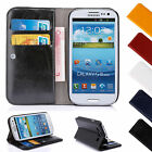 Luxury Leather Flip Case Wallet Cover Stand For Samsung Galaxy Varies Phones