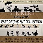 SOLDIER ANTS MOUSE Wall Sticker ARMY Vinyl Decal Mice Home Skirting Board Funny