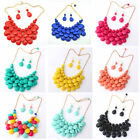 Fashion Women Jewelry Bib Crystal Chunky Choker Pendant Chain Statement Necklace