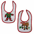 Baby Toddler Xmas Christmas Festive 100% Cotton Feeding Bib