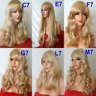 STRAWBERRY BLONDE Curly Layered FULL WOMEN LADIES FASHION HAIR WIG Heat resist