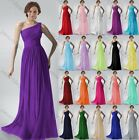Long One shoulder Evening Formal Party Ball Gown Prom Bridesmaid Dress 6-22