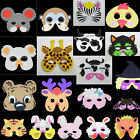 Animal Zoo Farm Jungle Foam Kids Mask Costume Fancy Dress School Party New