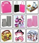 GIRLS PINK PIRATE - BIRTHDAY PARTY GIFT LOOT BAGS ~ PLATE BOX ~ CAKE SWEET BAG