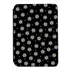 Daisies Black Flowers Floral Kindle Paperwhite Touch PU Leather Flip Case Cover