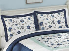 Collections Etc Embroidered Floral Sateen Abigail Pillow Sham