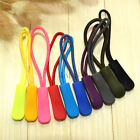 Colorful Zipper Pulls Cord Rope Ends Lock Zip Clip Buckle For Clothing/Bags