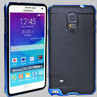 Armor Hybrid Hard Bumper Soft Rubber Case Cover For Samsung Galaxy Note 3 Note 4