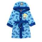Bhs Boys Fireman Sam Hooded Fleece Bath Robe Dressing Gown Nightwear
