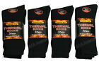 3/6/12 Pairs Mens Thermal Socks Outdoor Work Black Thermal Socks UK 6-11 FI092-B