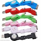 3in1 Retractable Mini Micro USB Car Charger Cable for iPhone 4 4S 3G HTC Samsung