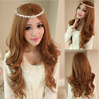 Hot Fashion Women Long Wave Heat Resistant Hair Cosplay Wig Synthetic Wigs+Cap