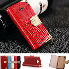 Bling Diamond Leather Case Flip Magnetic Wallet Cover For iPhone 6 Plus 6S Plus