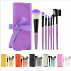 7pcs/set Makeup Tools Eyeshadow Lip Brush Cosmetic Brushes Set Kit + Bag Case