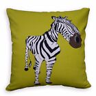 LL417a Black White Mustard Brown Zebra High Quality Cotton Canvas Cushion Cover