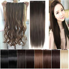 one piece clip in hair extensions straight curly real premium quality clip hair