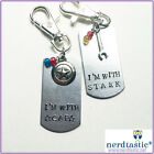 Captain America Civil War Stamped Dog Tag Handmade Iron Man Keychain Necklace