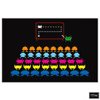 Space Invaders Pop Abstract Gaming BOX FRAMED CANVAS ART Picture HDR 280gsm