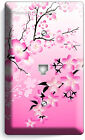 JAPANESE PINK SAKURA CHERRY BLOSSOM LIGHT SWITCH COVER PLATE OUTLET HOME DECOR