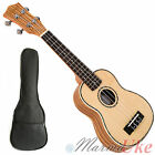Solid Spruce Top Soprano Ukulele - Zebrano with Abalone Inlay and Aquila Strings