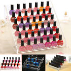 3/4/5/6 Tier Clear Acrylic Nail Polish Storage Organizer Rack Display Stand