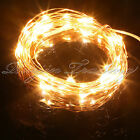 20-400LED MICRO METAL WIRE STRING FAIRY FOR  PARTY XMAS CHRISTMAS WARM LIGHTS