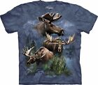 Moose Collage Animals T Shirt Adult Unisex The Mountain