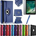 Leather 360 Degree Rotating Smart Stand Case Cover For Apple iPad Air 4 3 2 Mini <br/> FREE Stylus✔1st Class Post✔iPad 9.7-inch (2017)