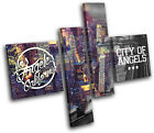Los Angeles LA Typography City MULTI CANVAS WALL ART Picture Print