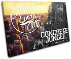 New York Typography City SINGLE CANVAS WALL ART Picture Print