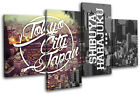 Tokyo Typography City MULTI CANVAS WALL ART Picture Print
