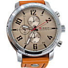 Trendy Fashion Curren Men Leather Stainless Steel Sport Analog Quartz WristWatch