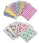 5 x CANDY STRIPE OR POLKA DOT PAPER SWEET FAVOUR BUFFET CAKE BAGS - 17.8x22.9cm