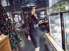 Korean Style Causel Long Sleeve Lady Dress Fashion Autumn F392 OL Bow Lace