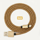 Strong braided charger metal wire cable lead USB for iPhone 6 5 5S iPad ipod