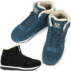 New Leather Simple Fashion Athletic Winter Warm Lace Up High Top Mens Shoes Nova