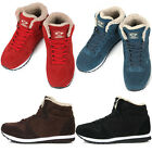 New Leather Fashion Athletic Winter Warm Lace Up High Top Womens Shoes Nova