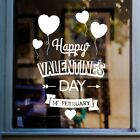 Valentines Day Heart Balloons Shop Front Window Sticker Retail Display Decal