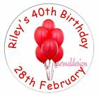 PERSONALISED BIRTHDAY CIRCLE STICKERS (choose from MATT or GLOSSY) BDCS 3