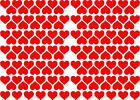 HEART shaped Stickers - 144x 20mm - Wall Laptop - Vinyl Decal Hearts Sticker Art