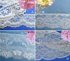 """Cream Lace Trim 4-24 Yd Scalloped Floral 1-1/4""""-3-1/2"""" 007CV Your Choice"""