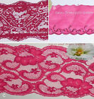 "Fuchsia Lace Trim 3-7 Yards Scalloped 4-1/2""-6-1/8"" 009CV Your Choice"