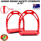 SAFETY SADDLE STIRRUP HORSE RIDING ALUMINUM IRONS WITH TREADS CRYSTALS/DIAMANTE